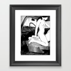 asc 314 - L'aire de repos II (She couldn't wait) Framed Art Print