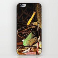 Vintage farm hand cart iPhone & iPod Skin