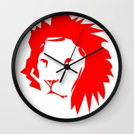 lion hearted Wall Clock