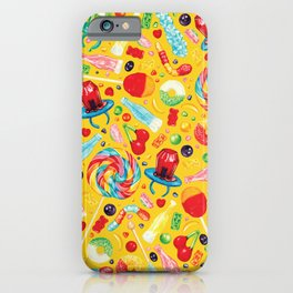 Candy Pattern - Yellow iPhone Case