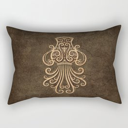 Vintage Rustic Aquarius Zodiac Sign Rectangular Pillow