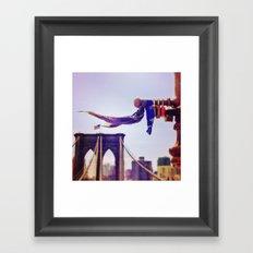 Locks of Love, Brooklyn Bridge Framed Art Print