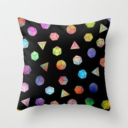 Platonic solids II Throw Pillow