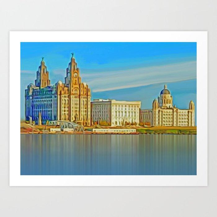 Water front Liverpool (Digital Art) Kunstdrucke