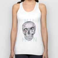 human Tank Tops featuring HUMAN by static candy