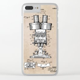 patent art Sabel Binocular Microscope 1926 Clear iPhone Case
