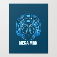 megaman Canvas Prints featuring MegaMan by Kush Wright