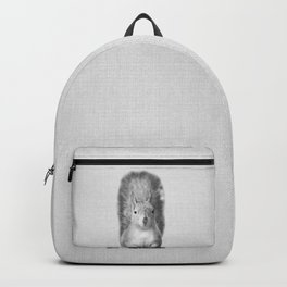 Squirrel - Black & White Backpack