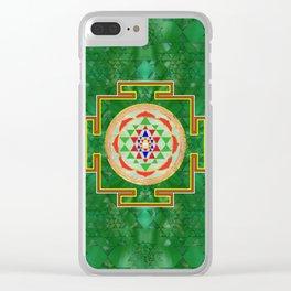 Sri Yantra  / Sri Chakra in color Clear iPhone Case