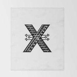 LETTER 'X' IMELA PRINT Throw Blanket