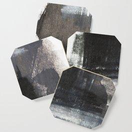 Abstract Texture, Black White & Grey Texture 1 Coaster