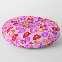 Glossy Lips Pattern Floor Pillow