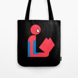 Gentleman Spider Reads Tote Bag