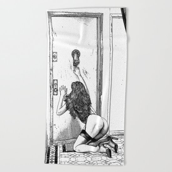 asc 700 - L'audience reportée (The missed handshake) Beach Towel