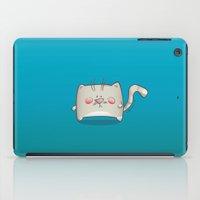 kitty iPad Cases featuring Kitty by jebirvoki