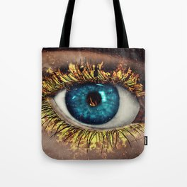 Eye in Flames Tote Bag