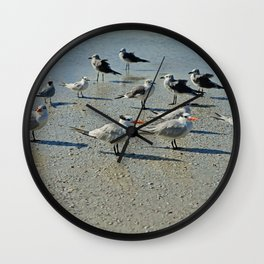 Just a Day at the Beach Wall Clock