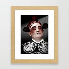 Chinese opera (Actor Portrait). Framed Art Print