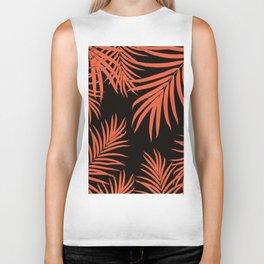 Palm Leaves Pattern Orange Vibes #1 #tropical #decor #art #society6 Biker Tank