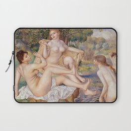 The Large Bathers by Pierre-Auguste Renoir Laptop Sleeve