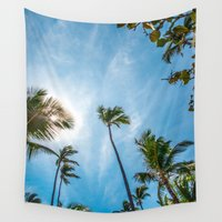 palm Wall Tapestries featuring PALM by Ines Menacho