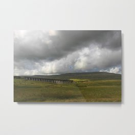 Viaduct in Yorkshire, UK Metal Print