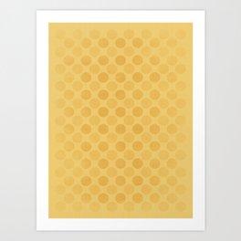 Faded yellow circles pattern Art Print