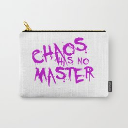 Chaos Has No Master Purple Graffiti Text Carry-All Pouch