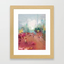 A Letter from Addis Ababa - Mixed Media Illustration Print Framed Art Print