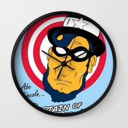Abe, Captain of America Wall Clock