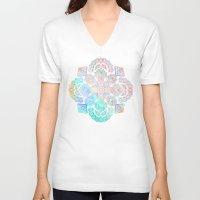 boho V-neck T-shirts featuring Boho Intense by micklyn