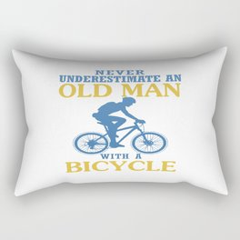 Bicycle Old Man Rectangular Pillow