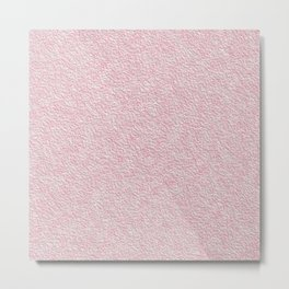 Pink plaster texture Metal Print
