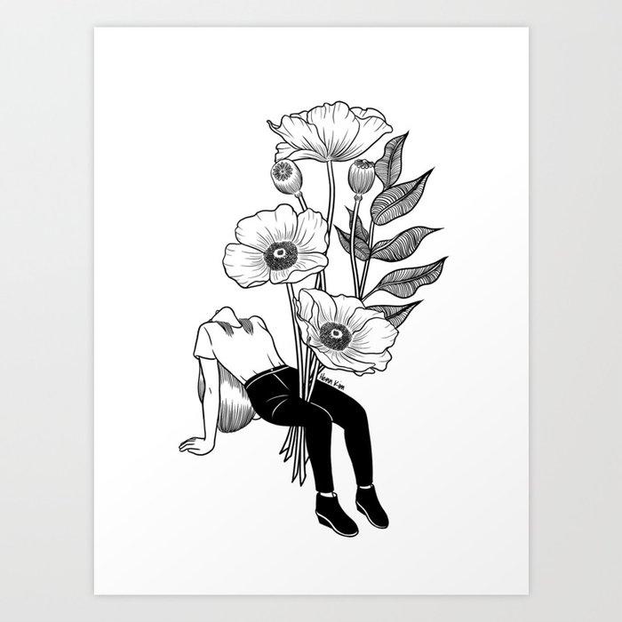Let me bloom Art Print