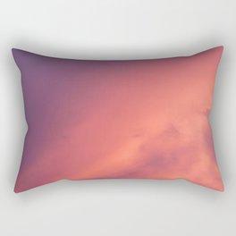 Purple Sky with Orange Clouds Rectangular Pillow
