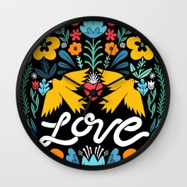 Love bird garden Wall Clock