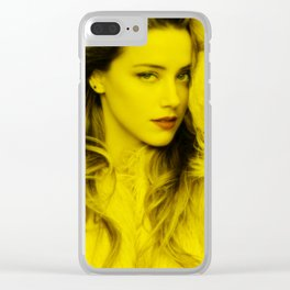 Amber Heard - Celebrity (Florescent Color Technique) Clear iPhone Case