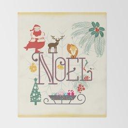 Christmas Noel Throw Blanket