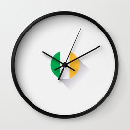 Minimal Ireland Flag Wall Clock