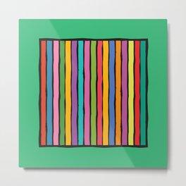 dp203-5 Colorful Stripes Metal Print