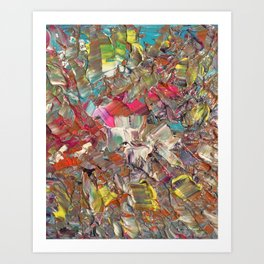 Abstract Acrylic Palette Knife painting Art Print