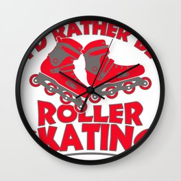 roller skates inline  gift idea scooters sport Wall Clock