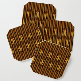 Brown And Rust Textile Pattern Coaster