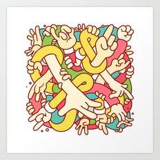 Hand Study Art Print