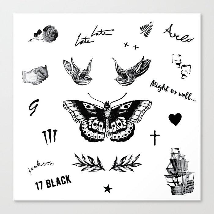 Harry's Tattoos Two Leinwanddruck