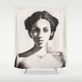 woman Donagico Shower Curtain