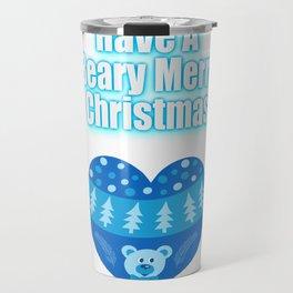 Have A Beary Merry Christmas Teddy Bear Heart Gifts Travel Mug