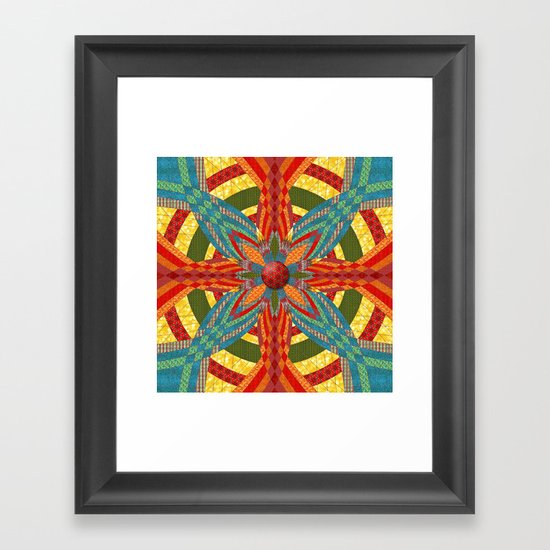 Thistle Pattern Framed Art Print