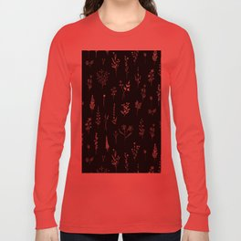 Black wildflowers Long Sleeve T-shirt