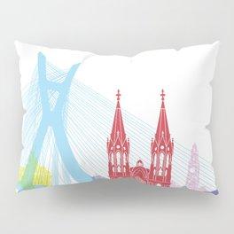Sao Paulo skyline pop Pillow Sham